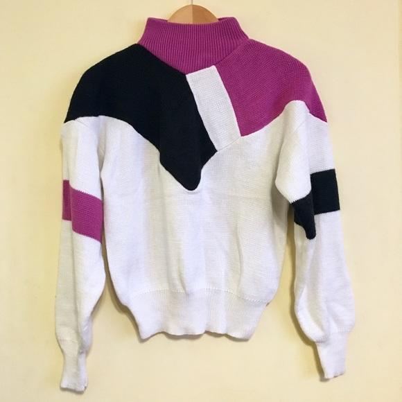 b10567f6 Vintage Sweaters | Snow Trails Color Block 80s Sweater Euc | Poshmark